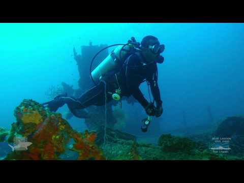 San Francisco Maru, Truk Lagoon. Dive this Japanese WWII shipwreck with Blue Lagoon Dive Shop.