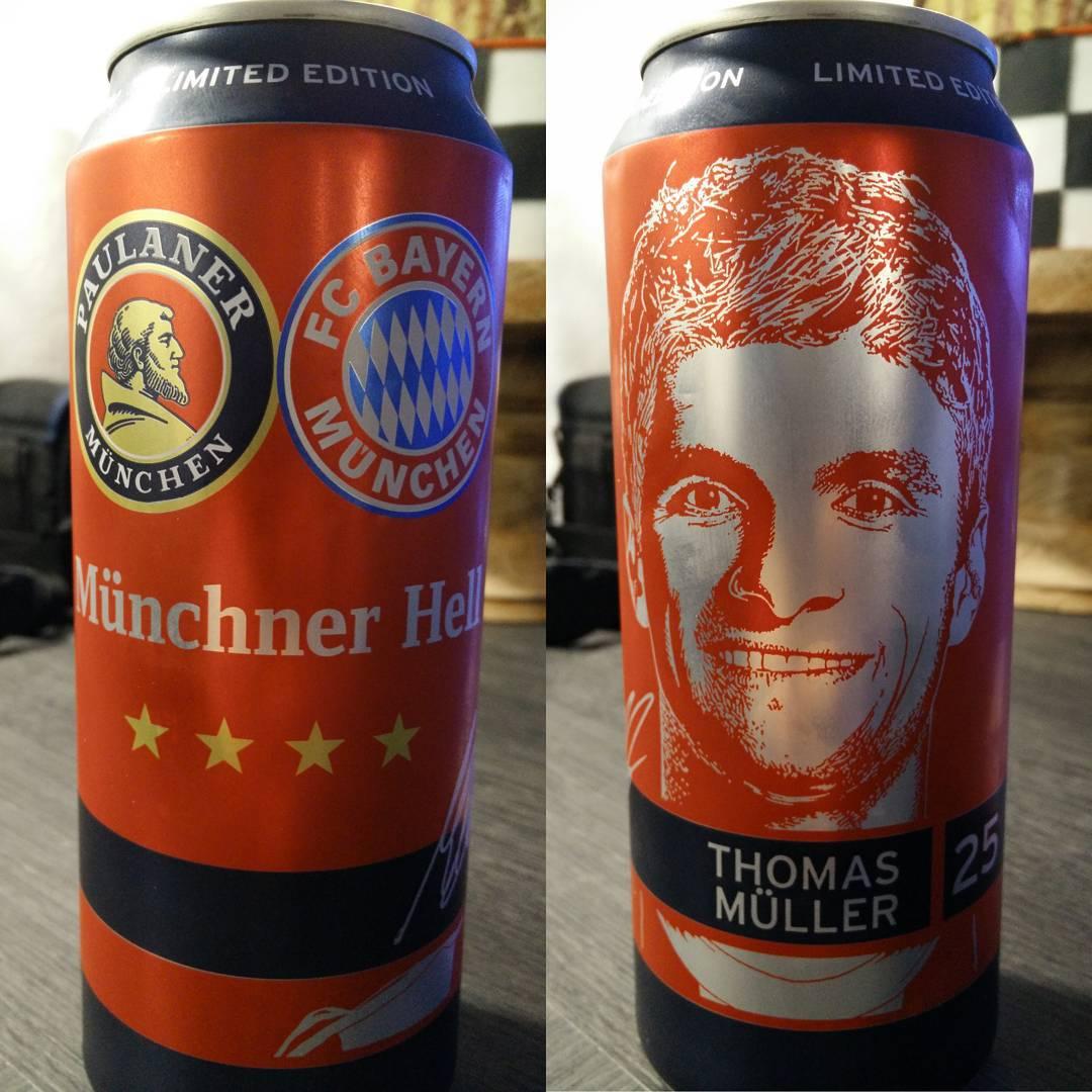 Münchner Hell FC Bayern Edition mit dem genialen Thomas Müller