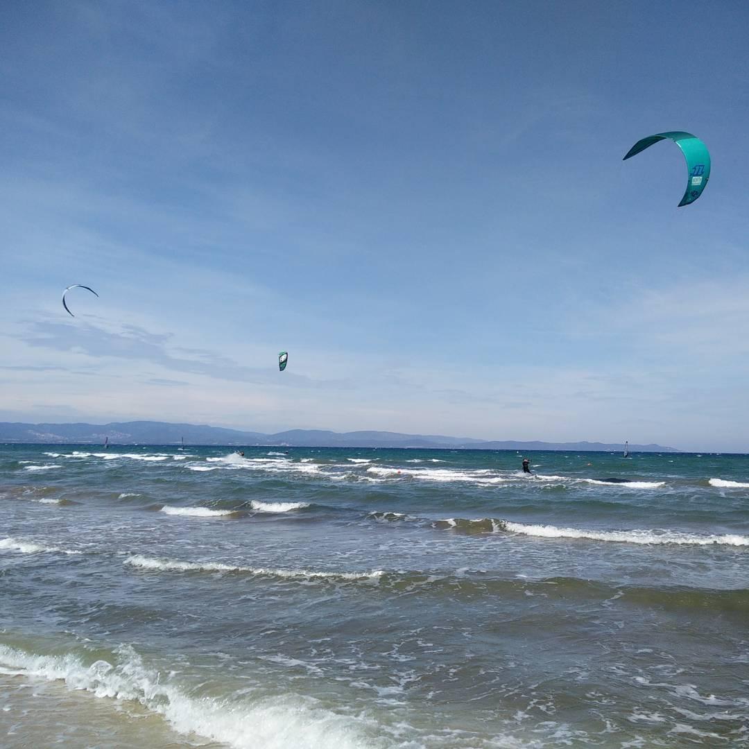 Kiter am Plage de La Capte