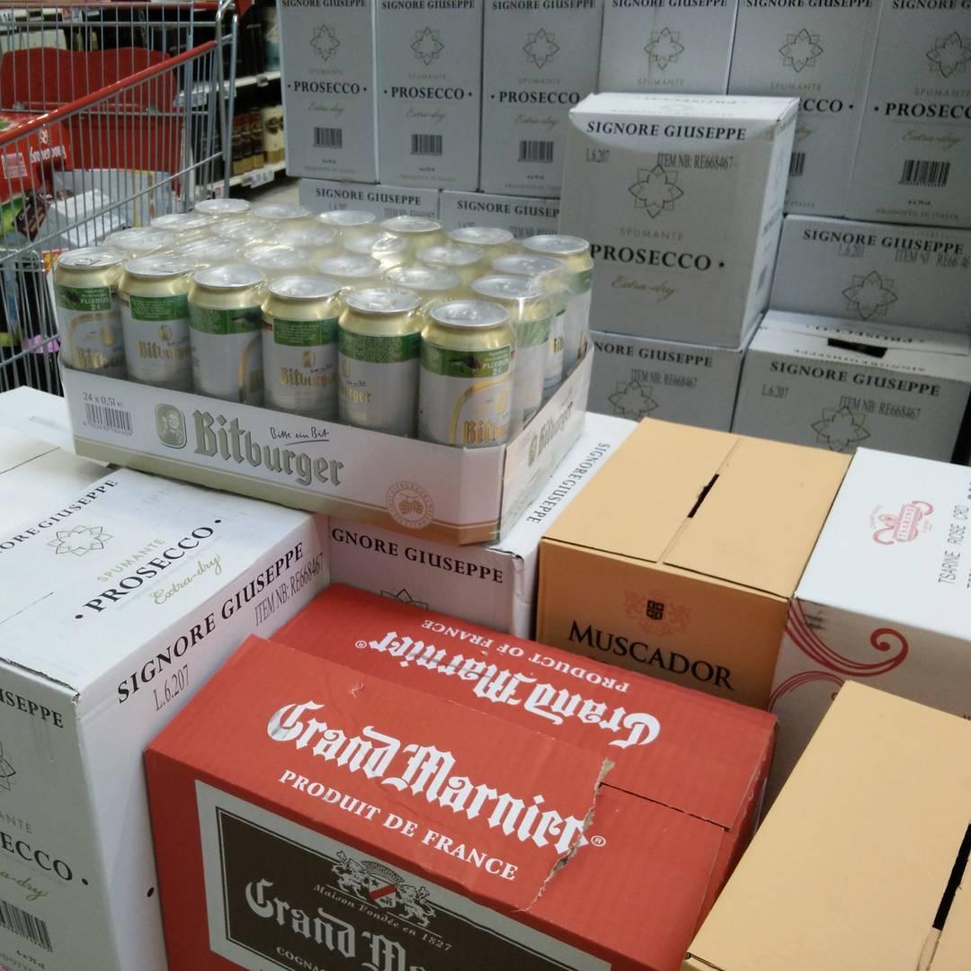 Hier im französischen Supermarkt läuft was schief