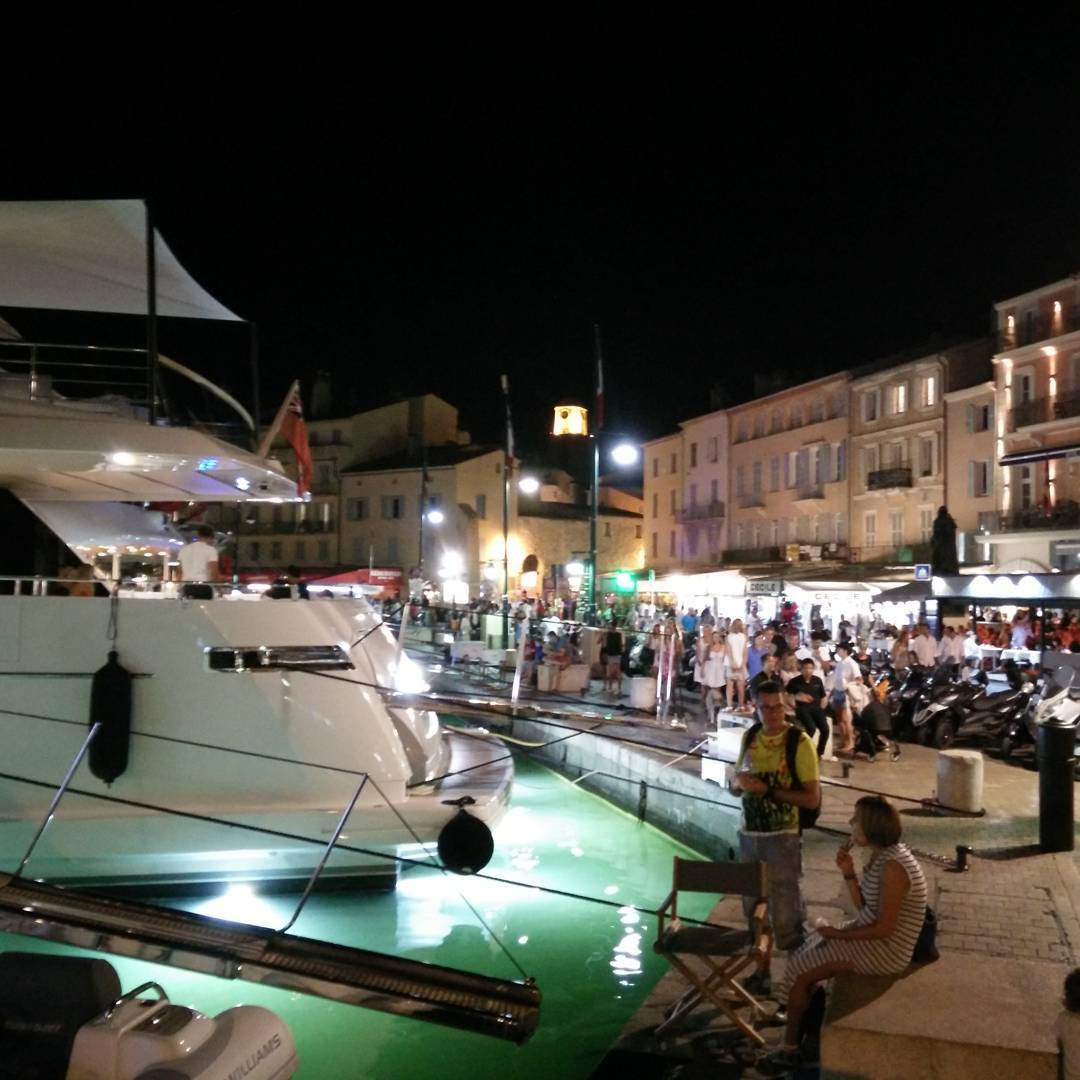 Saint-Tropez port by night