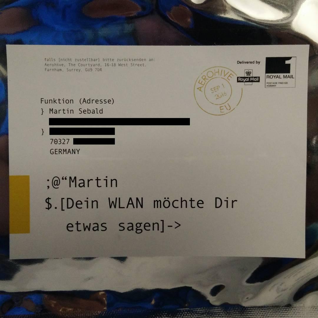 Post von meinem WLAN erhalten. Ob ich da nun wirklich reinschauen will, hm?