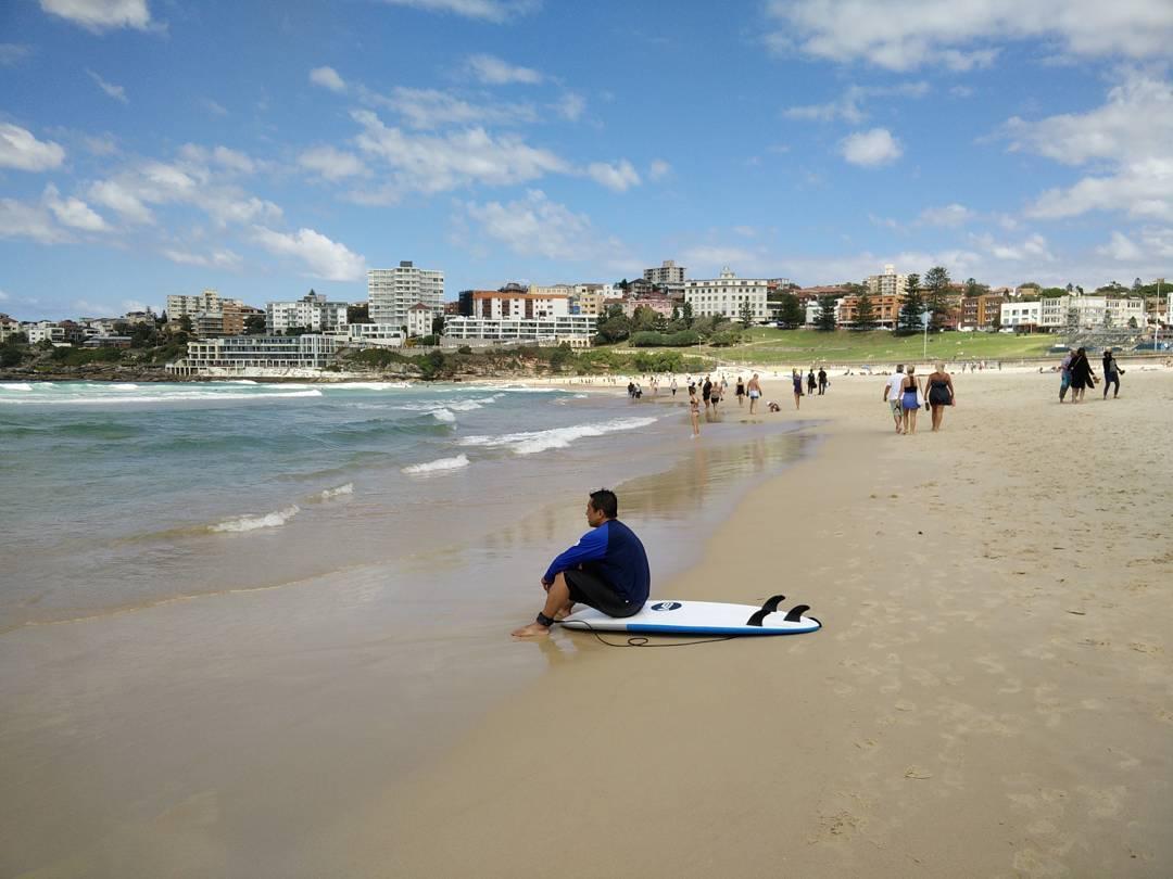 Sunny day at Bondi Beach