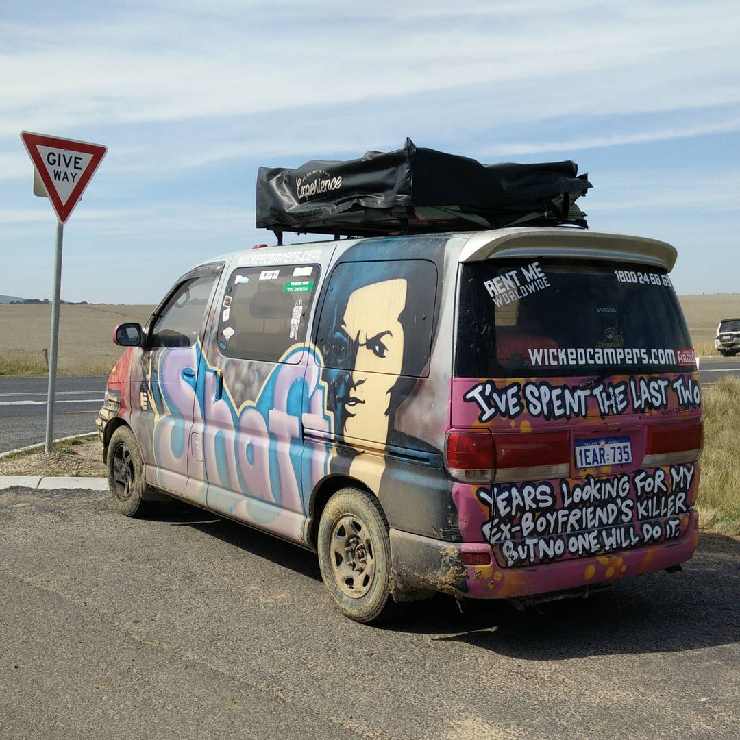 Wicked Camper at the Great Ocean Road