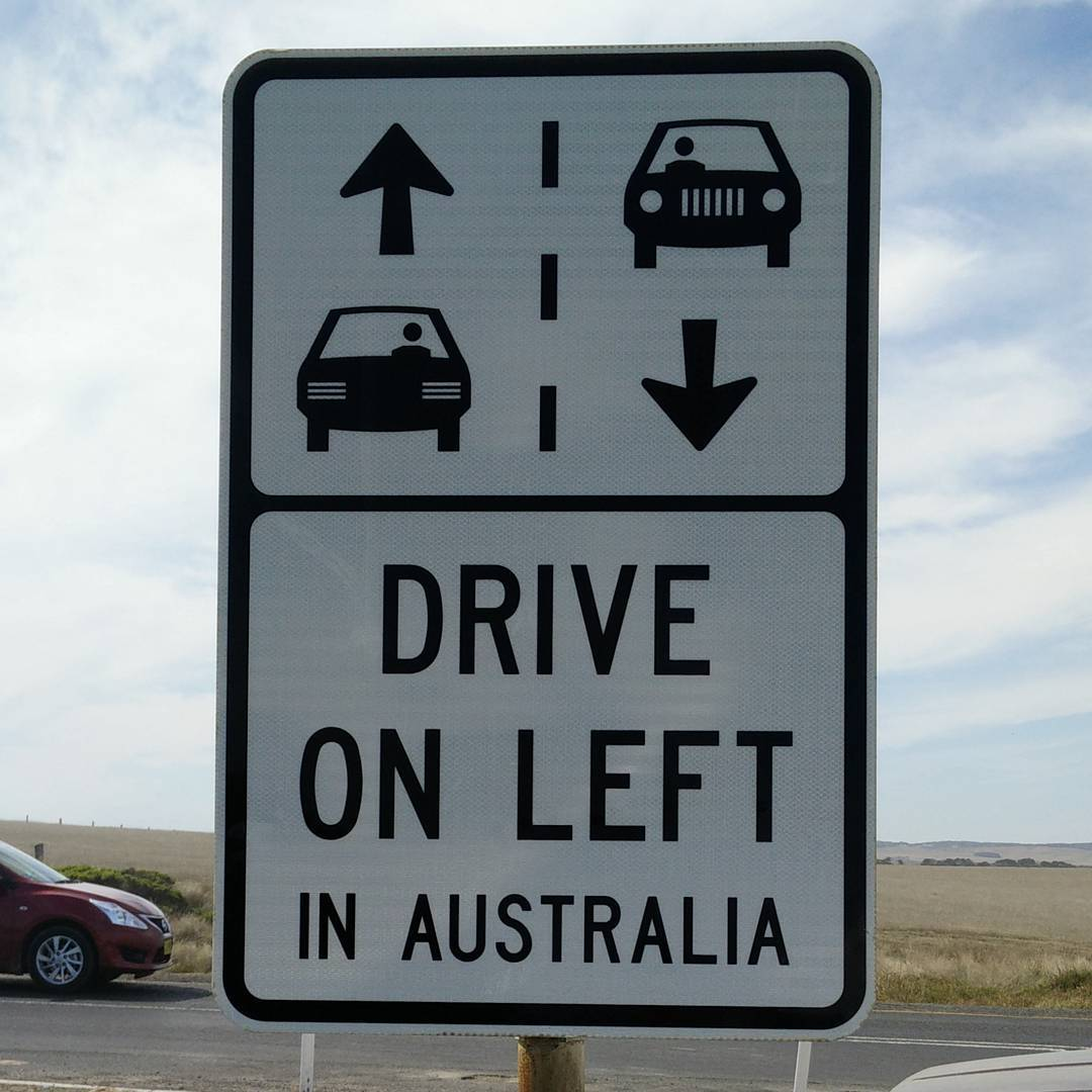 Tourist road signs