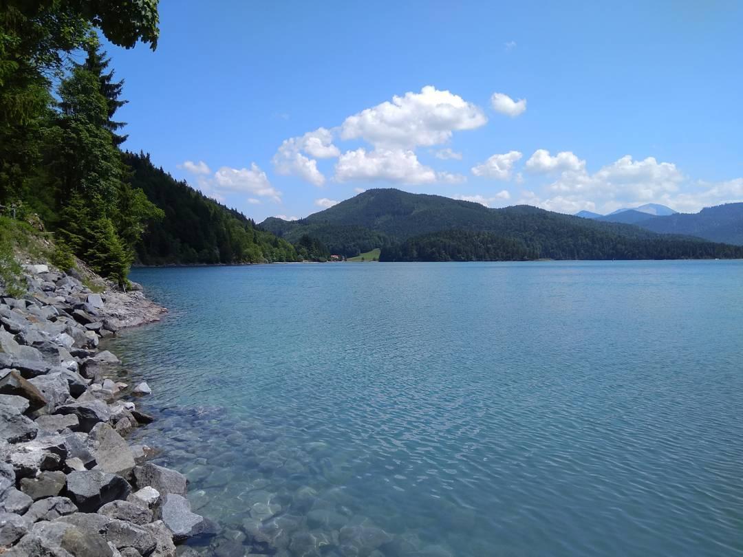 Gestern am Walchensee. Perfektes Wetter und toller Tag am See.