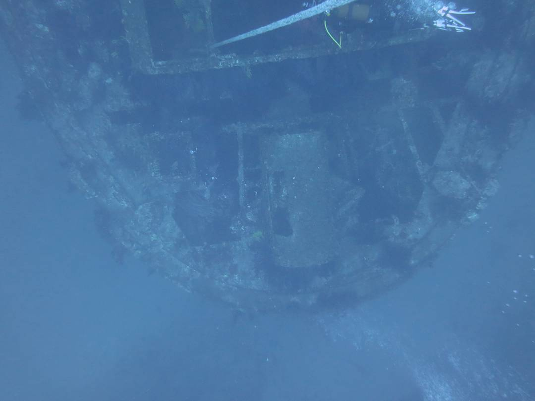 Bow of the Donator wreck