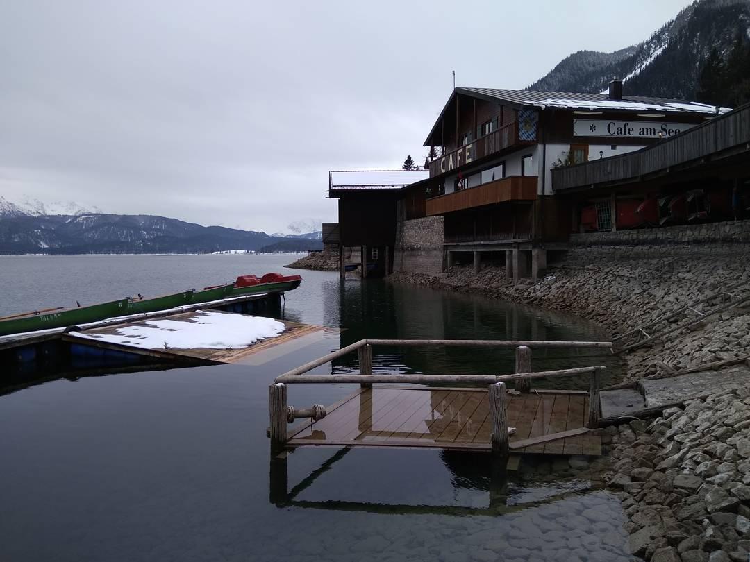 Walchensee, Urfeld Hafen gestern Nachmittag