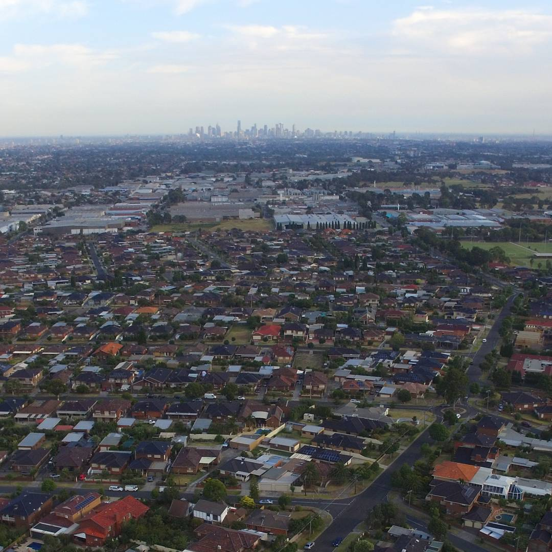 Downtown Melbourne view from Reservoir