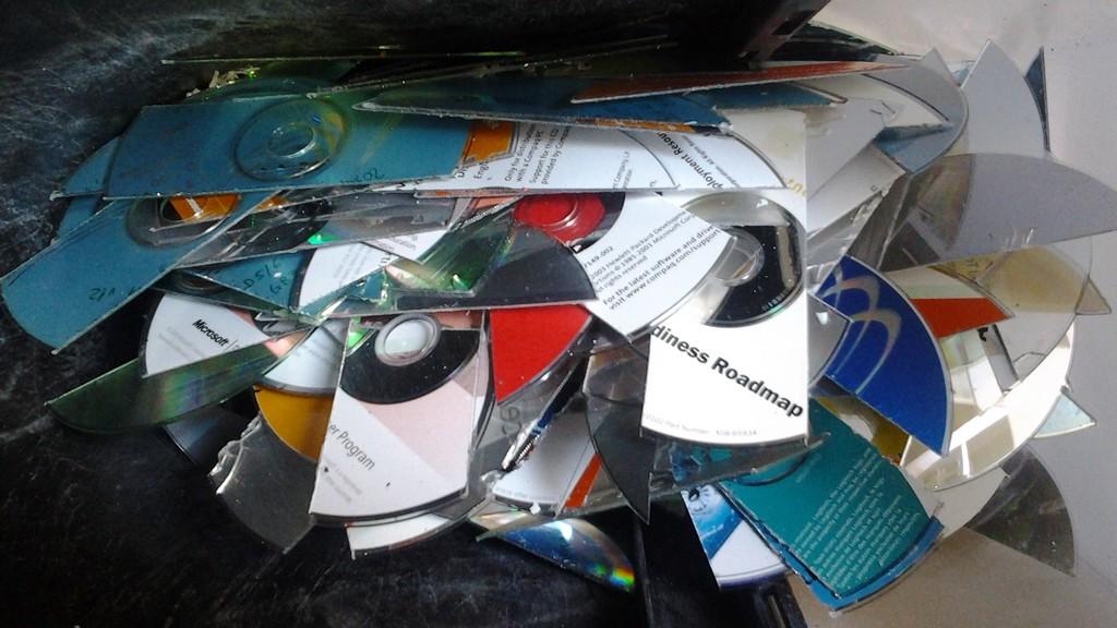 geschredderte CDs