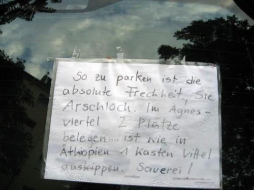 Agnesviertel Parkschild