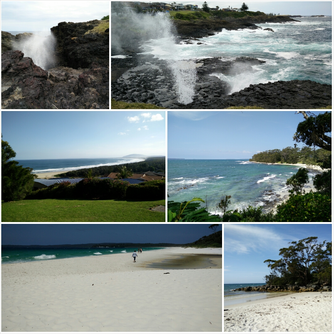 Collage: Kiama, Jervis Bay...