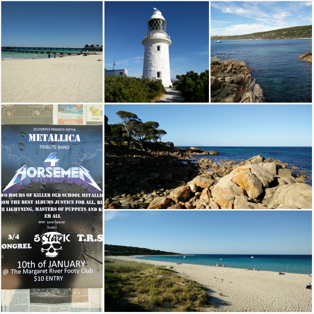 Collage: Busselton Jetty, Cape Naturaliste...
