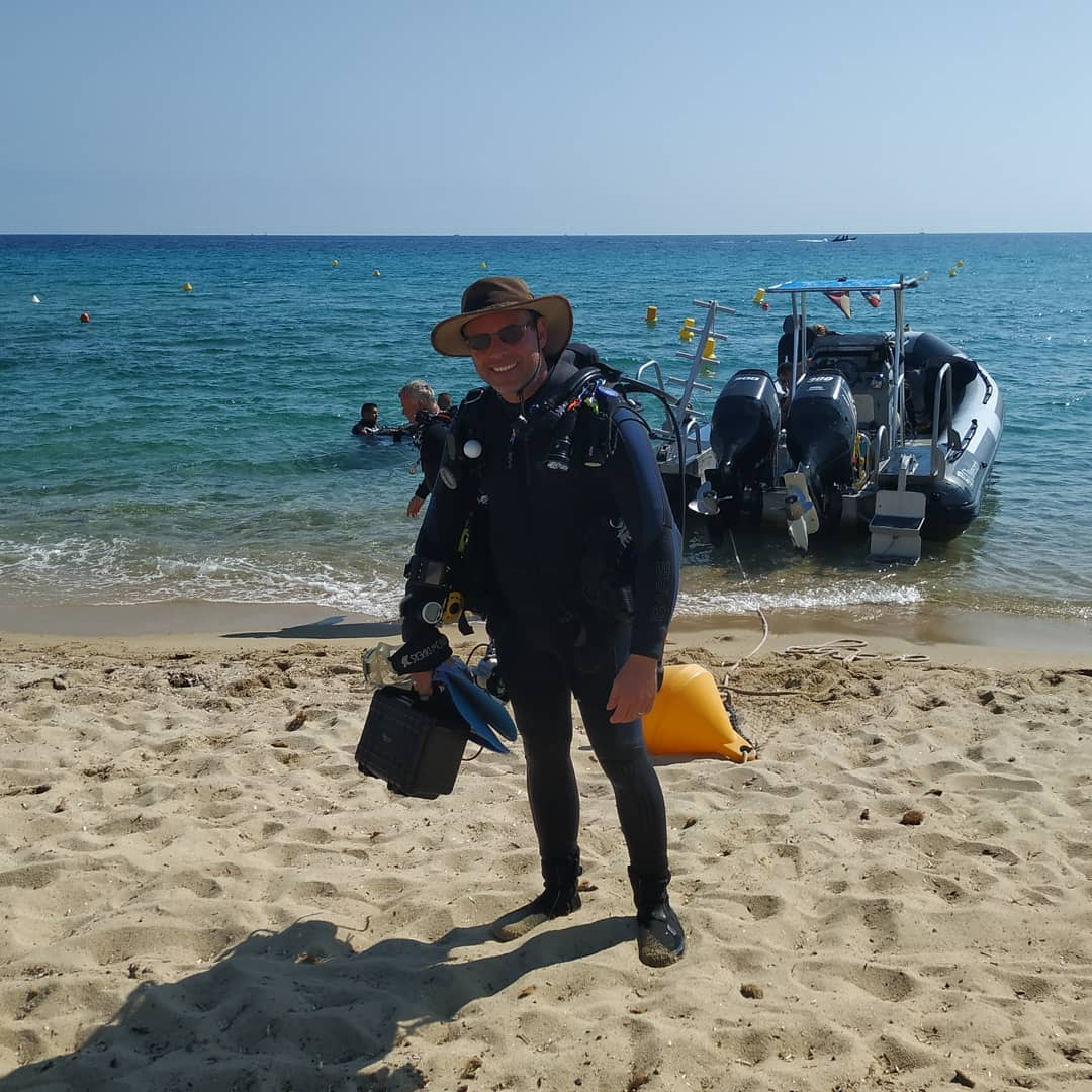 Back from diving