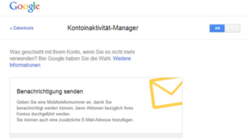Google regelt die Verfügbarkeit der Daten nach Eurem Tod (oder Inaktivität)