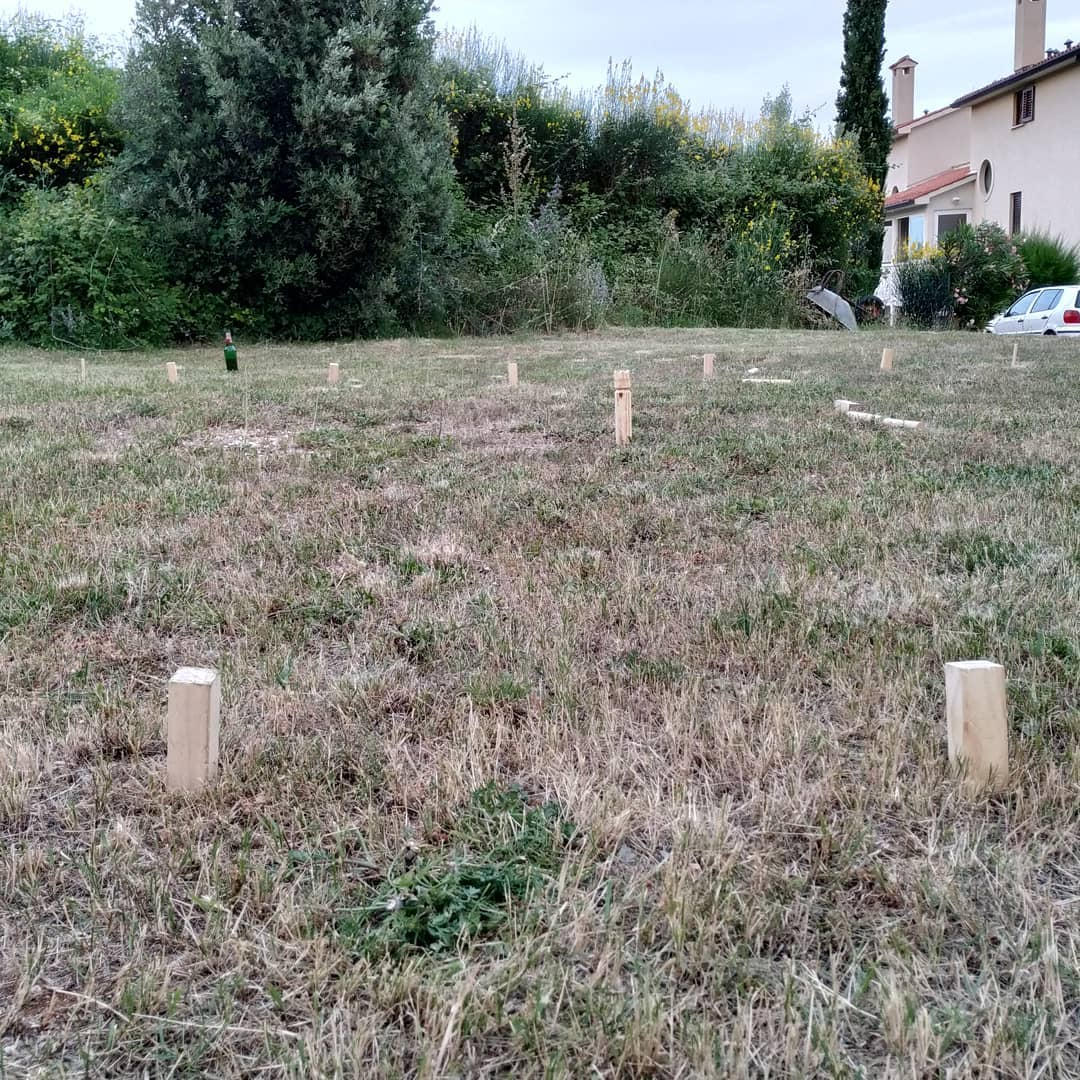 Kubb with the kid, great end of a great holiday day