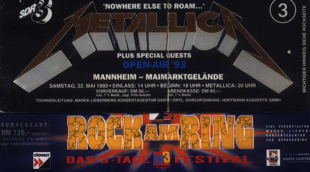 Metallica bei Rock am Ring 2012