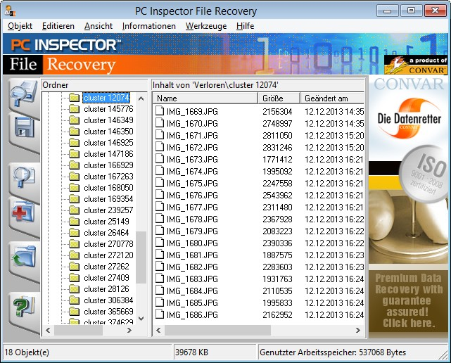 PC Inspector File Recovery Programm